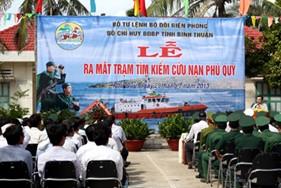 Bình Thuận: Tổ chức Lễ ra mắt công trình Trạm tìm kiếm cứu nạn Phú Quý