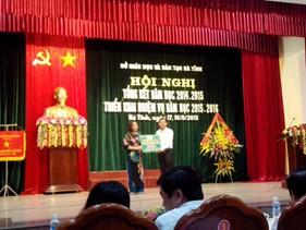 MIC Nghệ An trao 100 suất học bổng cho Sở giáo dục Hà Tĩnh