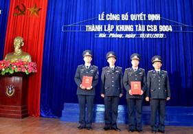 BTL Vùng CSB 1 tổ chức Lễ công bố quyết định thành lập khung tàu CSB 9004