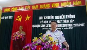 BTL Vùng Cảnh sát biển 1 nói chuyện truyền thống nhân Kỷ niệm 18 năm Ngày thành lập Lực lượng cảnh sát biển Việt Nam