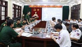 Chủ nhiệm Tổng cục Kỹ thuật thăm và làm việc với BTL Cảnh sát biển