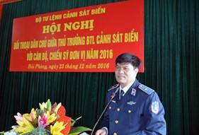 Hội nghị Đối thoại dân chủ giữa Thủ trưởng BTL Cảnh sát biển với cán bộ, chiến sĩ BTL Vùng Cảnh sát biển 1