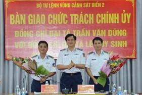 BTL Vùng Cảnh sát biển 2 bàn giao chức trách Chính ủy Vùng