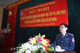 BTL Vùng Cảnh sát biển 1 tập huấn triển khai thực hiện Chỉ thị 05 của Bộ Chính trị