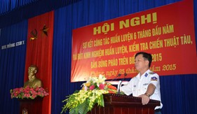 BTL Vùng Cảnh sát biển 1 hoàn thành 100% nội dung, chương trình huấn luyện năm 2015
