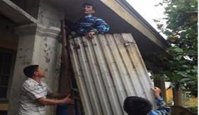 BTL Vùng Cảnh sát biển 1 giúp dân ứng phó, khắc phục hậu quả của cơn bão số 1