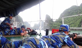 BTL Vùng Cảnh sát biển 1 hoàn thành tốt nhiệm vụ huấn luyện bắn đạn thật bài 3 AK trên biển
