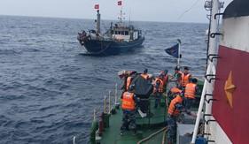 Tàu CSB 2016/ BTL Vùng Cảnh sát biển 2 cứu nạn tàu cá QB 91609