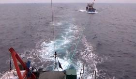 BTL Vùng Cảnh sát biển 1 cứu nạn thành công tàu cá trên biển