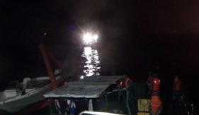 BTL Vùng Cảnh sát biển 1 cứu nạn thành công tàu cá bị sự cố trên vùng biển Hà Tĩnh