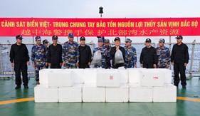 Cảnh sát biển Việt Nam - Trung Quốc chung tay bảo vệ và tái tạo nguồn lợi thủy sản trên Vịnh Bắc bộ