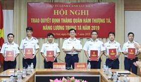 Bộ Tư lệnh Cảnh sát biển trao quyết định thăng quân hàm Thượng tá, nâng lương Trung tá năm 2019