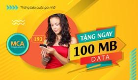 Nhận Data ưu đãi khi dùng Dịch vụ Thông báo cuộc gọi nhỡ (MCA)