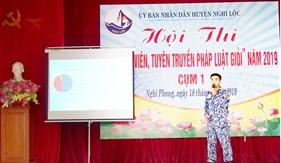 """Đoàn Đặc nhiệm PCTP ma túy số 2 tham gia Hội thi """"báo cáo viên, tuyên truyền viên pháp luật giỏi"""" năm 2019 do huyện Nghi Lộc tổ chức"""