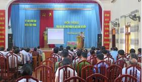 Tuyên truyền Luật Cảnh sát biển Việt Nam cho cán bộ chủ chốt huyện Triệu Phong (Quảng Trị)