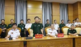 Đoàn công tác Cục Đối ngoại Bộ Quốc phòng thăm và làm việc với Bộ Tư lệnh Cảnh sát biển