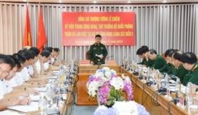 Thượng tướng Lê Chiêm làm việc tại Bộ Tư lệnh Vùng Cảnh sát biển 2