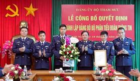 Công bố Quyết định thành lập Đảng bộ bộ phận Tiểu đoàn Thông tin