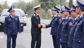 Chuẩn Đô đốc Nguyễn Trọng Bình thăm và làm việc tại Bộ Tư lệnh Cảnh sát biển