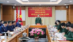 Thứ trưởng Bộ Quốc phòng Nguyễn Tân Cương thăm và làm việc với Bộ Tư lệnh Cảnh sát biển