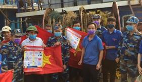 Hải đội 102/BTL Vùng Cảnh sát biển 1 đẩy mạnh công tác tuyên truyền phòng chống dịch Covid -19 trên địa bàn đóng quân
