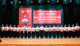 Trao quyết định thăng, phong quân hàm sĩ quan năm 2020 khối cơ quan Bộ Tư lệnh Cảnh sát biển