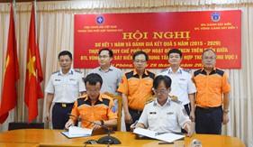 Tăng cường phối hợp hoạt động giữa Bộ Tư lệnh Vùng Cảnh sát biển 1 và Trung tâm Phối hợp TKCN hàng hải khu vực I