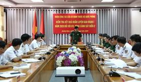 Bộ Quốc phòng kiểm tra kết quả huấn luyện giai đoạn 1 tại Bộ tư lệnh Vùng cảnh sát biển 2