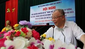 Giáo sư Hoàng Chí Bảo nói chuyện về thân thế, sự nghiệp, tư tưởng, đạo đức, phong cách của Chủ tịch Hồ Chí Minh tại Bộ Tư lệnh Vùng Cảnh sát biển 2