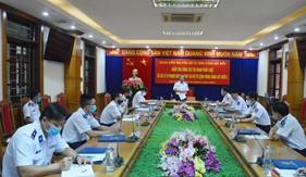Phó Tư lệnh Cảnh sát biển làm việc tại BTL Vùng Cảnh sát biển 1