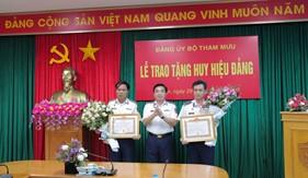 Bộ Tham mưu Cảnh sát biển trao huy hiệu 30 năm tuổi Đảng