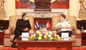 Tư lệnh Cảnh sát biển tiếp đón và làm việc với Đại sứ Đặc mệnh toàn quyền Thái Lan tại Việt Nam