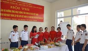 """Phụ nữ BTL Vùng Cảnh sát biển 1 tổ  chức Hội thi nấu ăn """"Bữa cơm gia đình yêu thương và chia sẻ"""""""
