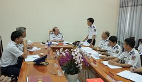 """Bộ Tư lệnh Cảnh sát biển kiểm tra kết quả xây dựng đơn vị vững mạnh toàn diện """"Mẫu mực, tiêu biểu"""" tại Bộ tư lệnh Vùng Cảnh sát biển 2"""