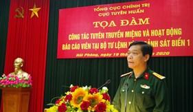 Tổng cục Chính trị khảo sát công tác tuyên truyền miệng và hoạt động báo cáo viên tại BTL Vùng Cảnh sát biển 1