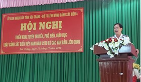 Tuyên truyền, phổ biến Luật Cảnh sát biển Việt Nam cho cán bộ chủ chốt tỉnh Sóc Trăng