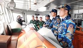 Học viên lớp tập huấn cộng tác viên phát thanh, truyền hình toàn quân thực tế tại Bộ Tư lệnh Vùng Cảnh sát biển 1