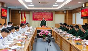 Trung tướng Võ Minh Lương thăm, làm việc tại Bộ Tư lệnh Cảnh sát biển