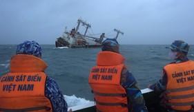 Bộ Tư lệnh Vùng Cảnh sát biển 3 cứu nạn tàu Xin Hong quốc tịch Panama