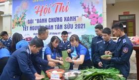 """Liên chi đoàn Hải đội 211 tổ chức Hội thi """"Gói bánh chưng xanh"""" Xuân Tân Sửu 2021"""