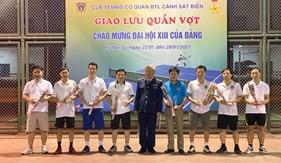 Giao lưu Tennis chào mừng Đại hội XIII của Đảng