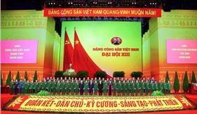 Những hình ảnh về hoạt động của các đại biểu Đảng bộ Quân đội tại Đại hội XIII của Đảng