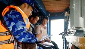 Trạm 2 Cảnh sát biển phối hợp tuần tra, kiểm soát, tuyên truyền bảo vệ nguồn lợi thủy sản