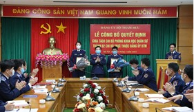 Đảng ủy Bộ Tham mưu Cảnh sát biển công bố Quyết định chia tách chi bộ trực thuộc