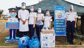 Phụ nữ Bộ Tư lệnh Vùng Cảnh sát biển 2 chung tay phòng, chống dịch bệnh Covid-19