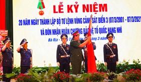 Bộ Tư lệnh Vùng Cảnh sát biển 3 đón nhận Huân chương Bảo vệ Tổ quốc hạng Nhì