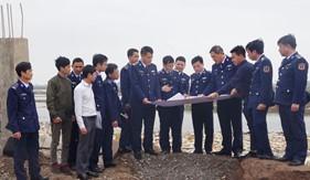 Thủ trưởng Bộ Tư lệnh Cảnh sát biển kiểm tra thực địa khu đất vị trí đóng quân Đoàn Trinh sát số 1 và Trung tâm Huấn luyện thực hành số 1
