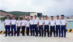 Khoa Cảnh sát biển Học viện Hải quân tổ chức học tập, nghiên cứu tại Hải đoàn 32 Bộ Tư lệnh Vùng Cảnh sát biển 3