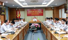 Cán bộ, đảng viên Đảng bộ Cảnh sát biển tham dự Hội nghị trực tuyến toàn quốc nghiên cứu, học tập Nghị quyết Đại hội XIII của Đảng