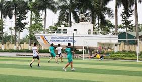Bộ Tư lệnh Cảnh sát biển tổ chức thi đấu giao hữu bóng đá với Cục Đối Ngoại/Bộ Quốc phòng